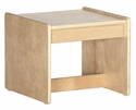 Birch Hardwood Preschool Living Room Set End Table - 15''W x 15''D x 13''H [ELR-0684-ECR]