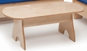Birch Laminate Childrens Economy Coffee Table [WB8080-WBR]