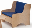 Birch Laminate Childrens Economy Easy Chair [WB8082-WBR]