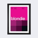 Blondie at CBGB & OMFUG: July 17th,1975 by Swissted Artwork on Fine Art Paper with Black Matte Hardwood Frame - 16''W x 24''H x 1''D [SWI3-1PFA-24X16-FM01-ICAN]