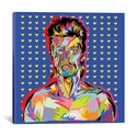 Bowie by TECHNODROME1 Gallery Wrapped Canvas Artwork - 26''W x 26''H x 0.75''D [TDR15-1PC3-26X26-ICAN]