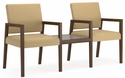 Brooklyn Series 2 Chairs with Connecting Center Table [B2811G7-FS-RO]