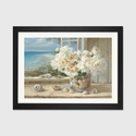 By the Sea by Danhui Nai Artwork on Fine Art Paper with Black Matte Hardwood Frame - 24''W x 16''H x 1''D [WAC203-1PFA-24X16-FM01-ICAN]
