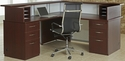 Causeway 72'' Left Reception L Desk - Mahogany Finish [7042-72LRLDA-FS-DMI]