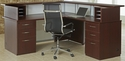 Causeway 72'' Right Reception L Desk - Honey Maple Finish [7041-72RRLDA-FS-DMI]