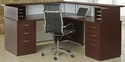 Causeway 72'' Right Reception L Desk - Mahogany Finish [7042-72RRLDA-FS-DMI]