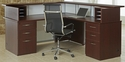 Causeway 72'' Right Reception L Desk - Mocha Finish [7040-72RRLDA-FS-DMI]