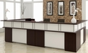 Causeway Double Reception L Desk - Mocha Finish [7040-REC144A-FS-DMI]