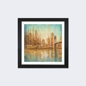 Champagne City by Danhui Nai Artwork on Fine Art Paper with Black Matte Hardwood Frame - 24''W x 24''H x 1''D [WAC4192-1PFA-24X24-FM01-ICAN]