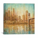 Champagne City by Danhui Nai Gallery Wrapped Canvas Artwork - 37''W x 37''H x 0.75''D [WAC4192-1PC3-37X37-ICAN]