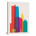 Chicago by Yoni Alter Gallery Wrapped Canvas Artwork with Floating Frame - 19''W x 27''H x 1.5''D [YAL16-1PC6-26X18-FF01-ICAN]