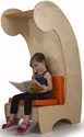 Children's Contemporary Reading Chair Bookcase with Comfortable Orange Cushions - 21.25''W x 28.5''D x 52''H [WB7800-WBR]