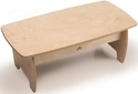 Children's Laminate Birchwood Low Coffee Table with Non-Toxic UV Finish - 14.7''W x 29''D x 15''H [WB7480-FS-WBR]