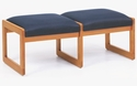 Classic Series 2 Seat Backless Bench with Sled Base [C2001B3-FS-RO]