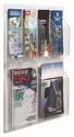 Clear-VU Combination Pamphlet and Magazine Display - 4 Pamphlets and 2 Magazines [LRC102-AA]