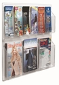 Clear-VU Combination Pamphlet and Magazine Display - 6 Pamphlets and 3 Magazines [LRC106-AA]