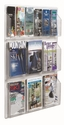 Clear-VU Combination Pamphlet and Magazine Display - 6 Pamphlets and 6 Magazines [LRC107-AA]