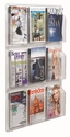Clear-Vu Magazine and Literature Display - 9 Magazines [LRC101-AA]