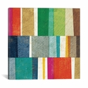 Colorful Abstract by Michael Mullan Gallery Wrapped Canvas Artwork - 37''W x 37''H x 0.75''D [WAC3755-1PC3-37X37-ICAN]