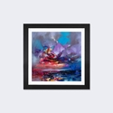 Colour Collision I by Scott Naismith Artwork on Fine Art Paper with Black Matte Hardwood Frame - 24''W x 24''H x 1''D [SNH84-1PFA-24X24-FM01-ICAN]
