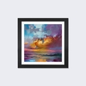 Consonant Sky by Scott Naismith Artwork on Fine Art Paper with Black Matte Hardwood Frame - 16''W x 16''H x 1''D [SNH3-1PFA-16X16-FM01-ICAN]