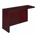 Corsica Left Hand Reception Counter Return with Modesty Panel - Mahogany on Walnut Veneer [CRTNLMAH-FS-MAY]