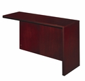 Corsica Right Hand Reception Counter Return with Modesty Panel - Mahogany on Walnut Veneer [CRTNRMAH-FS-MAY]