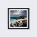 Coulours of Harris by Scott Naismith Artwork on Fine Art Paper with Black Matte Hardwood Frame - 24''W x 24''H x 1''D [SNH56-1PFA-24X24-FM01-ICAN]