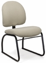 Desire Side Chair with Low Backrest and Four Leg Base with Casters - Grade B [DR-L-4-GRDB-FS-ADI]