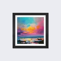 Diminuendo Sky Study II by Scott Naismith Artwork on Fine Art Paper with Black Matte Hardwood Frame - 16''W x 16''H x 1''D [SNH19-1PFA-16X16-FM01-ICAN]