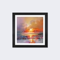 Diminuendo Sky Study III by Scott Naismith Artwork on Fine Art Paper with Black Matte Hardwood Frame - 16''W x 16''H x 1''D [SNH20-1PFA-16X16-FM01-ICAN]