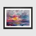 Displacement by Scott Naismith Artwork on Fine Art Paper with Black Matte Hardwood Frame - 32''W x 24''H x 1''D [SNH74-1PFA-32X24-FM01-ICAN]