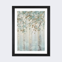 Dream Forest I by James Wiens Artwork on Fine Art Paper with Black Matte Hardwood Frame - 16''W x 24''H x 1''D [WAC4428-1PFA-24X16-FM01-ICAN]