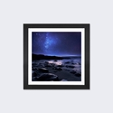 Echoes of the Silence by Sebastien Del Grosso Artwork on Fine Art Paper with Black Matte Hardwood Frame - 16''W x 16''H x 1''D [SDG39-1PFA-16X16-FM01-ICAN]