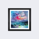 Elements I by Scott Naismith Artwork on Fine Art Paper with Black Matte Hardwood Frame - 16''W x 16''H x 1''D [SNH86-1PFA-16X16-FM01-ICAN]