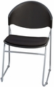 Zazz Poly Seat and Back Stacking Guest Chair - Set of Four [PS-1420-EOF]