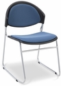 Zazz Upholstered Seat and Back Stacking Guest Chair - Set of Four [PS-1420-UB-EOF]