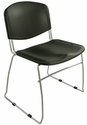 Dot 23'' W x 22'' D x 33.2'' H Stacking Chairs - Set of Four - Black [E-16750-CF-9011-EOF]