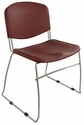 Dot 23'' W x 22'' D x 33.2'' H Stacking Chairs - Set of Four - Burgundy [E-16750-CF-3005-EOF]