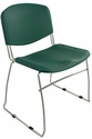 Dot 23'' W x 22'' D x 33.2'' H Stacking Chairs - Set of Four - Green [E-16750-CF-6026-EOF]