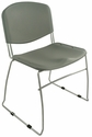Dot 23'' W x 22'' D x 33.2'' H Stacking Chairs - Set of Four - Grey [E-16750-CF-7004-EOF]