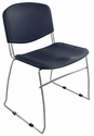 Dot 23'' W x 22'' D x 33.2'' H Stacking Chairs - Set of Four - Navy [E-16750-CF-5003-EOF]