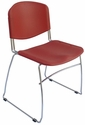 Dot 23'' W x 22'' D x 33.2'' H Stacking Chairs - Set of Four - Red [E-16750-CF-3020-EOF]