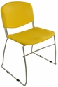 Dot 23'' W x 22'' D x 33.2'' H Stacking Chairs - Set of Four - Yellow [E-16750-CF-1023-EOF]