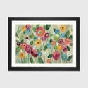 Fairy Tale Flowers V by Silvia Vassileva Artwork on Fine Art Paper with Black Matte Hardwood Frame - 24''W x 16''H x 1''D [WAC3757-1PFA-24X16-FM01-ICAN]