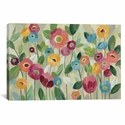 Fairy Tale Flowers V by Silvia Vassileva Gallery Wrapped Canvas Artwork with Floating Frame - 41''W x 27''H x 1.5''D [WAC3757-1PC6-40X26-FF01-ICAN]