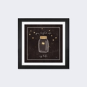 Firefly Glow I by All That Glitters Artwork on Fine Art Paper with Black Matte Hardwood Frame - 24''W x 24''H x 1''D [WAC3229-1PFA-24X24-FM01-ICAN]