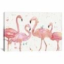 Flamingo Fever I by Anne Tavoletti Gallery Wrapped Canvas Artwork with Floating Frame - 27''W x 41''H x 1.5''D [WAC3795-1PC6-40X26-FF01-ICAN]