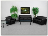 Flash Furniture Diplomat Reception Series in Black