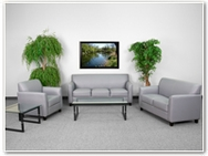 Flash Furniture Diplomat Reception Series in Gray
